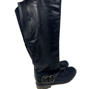 Remont Dorndorf Tall Leather Boots Black Size 41